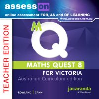 AssessON Maths Quest 8 for Victoria Australian Curriculum Teacher Edition (Online Purchase) Image