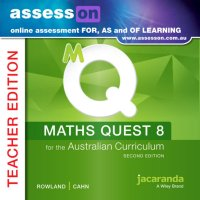 AssessON Maths Quest 8 for the Australian Curriculum Teacher Edition 2E (Online Purchase) Image