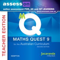 AssessON Maths Quest 9 for the Australian Curriculum Teacher Edition 2E (Online Purchase) Image