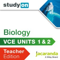 StudyOn VCE Biology Units 1 and 2 Teacher Edition (Online Purchase) Image