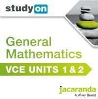 StudyOn VCE General Mathematics Units 1 and 2 (Online Purchase) Image