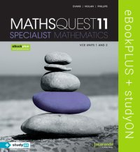 Maths Quest 11 Specialist Mathematics VCE Units 1&2 eBookPLUS (Online Purchase) + StudyOn VCE Specialist Mathematics Units 1&2 (Online Purchase) Image
