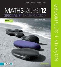 Maths Quest 12 Specialist Mathematics VCE Units 3 and 4 eBookPLUS (Online) + StudyOn VCE Specialist Mathematics Units 3 and 4 (Online) Image