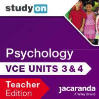 StudyOn VCE Psychology Unit 3 & 4 3E Teacher Edition (Online Purchase) Image