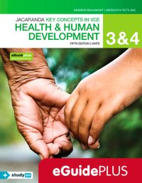 Key Concepts in VCE Health and Human Development Units 3 & 4 5E Eguide (Online Purchase) Image