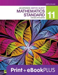 Jacaranda Maths Quest 11 Mathematics Standard 5E eBookPLUS & Print Image