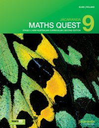 Jacaranda Maths Quest 9 Stage 5 NSW Australian Curriculum 2E LearnON & Print Image