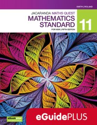 Jacaranda Maths Quest 11 Mathematics Standard 5E eGuidePLUS (Online Purchase) Image