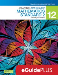 Jacaranda Maths Quest 12 Mathematics Standard 2 5E for NSW eGuidePLUS (Online Purchase) Image