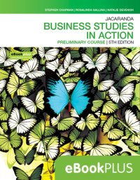 Jacaranda Business Studies in Action Preliminary Course 5E eBookPLUS (Online Purchase) Image