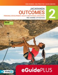 Jacaranda Outcomes 2 Personal Development, Health and Physical Education HSC Course 6E eGuidePLUS (Online Purchase) Image