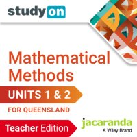StudyOn Mathematical Methods U1&2 for Queensland  Teacher Edition (Online Purchase) Image