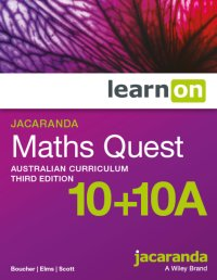 Jacaranda Maths Quest 10+10a Australian Curriculum3e LearnON (Online Purchase) Image
