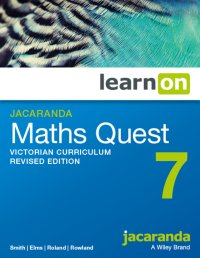 Jacaranda Maths Quest 7 Victorian Curriculum      Revised Edition LearnON (Online Purchase) Image