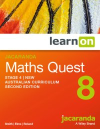Jacaranda Maths Quest 8 Stage 4 NSW Australian Curriculum 2E LearnON (Online Purchase) Image