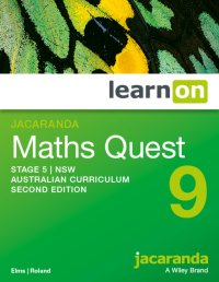 Jacaranda Maths Quest 9 Stage 5 NSW Australian Curriculum 2E LearnON (Online Purchase) Image