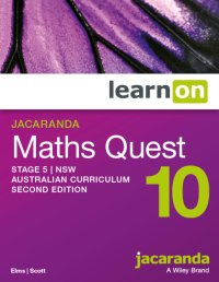 Jacaranda Maths Quest 10 Stage 5 NSW Australian Curriculum 2E LearnON (Online Purchase) Image