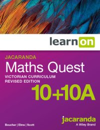 Jacaranda Maths Quest 10 + 10a Victorian          Curriculum Revised Edition LearnON (Online        Purchase) Image