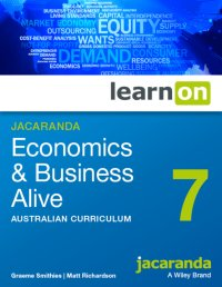 Jacaranda Economics and Business Alive 7 Australian Curriculum LearnON (Online Purchase) Image