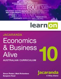 Jacaranda Economics and Business Alive 10 Australian Curriculum LearnON (Online Purchase) Image