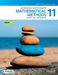 Jacaranda Maths Quest 11 Mathematical Methods VCE Units 1&2 2E eBookPLUS & Print + StudyOn VCE Mathematical Methods Units 1&2 (Book Code) Image