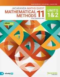 Jacaranda Maths Quest 11 Mathematical Methods Units 1&2 for Queensland eBookPLUS & Print + StudyOn Mathematical Methods Units 1&2 for Qld (Book Code) Image