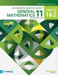 Jacaranda Maths Quest 11 General Mathematics Units 1&2 for Queensland eBookPLUS & Print + StudyOn General Mathematics Units 1&2 for Qld (Book Code) Image