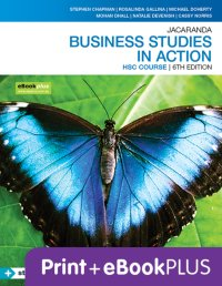 Jacaranda Business Studies in Action HSC 6E eBookPLUS & Print + StudyOn HSC Business Studies 2E (Book Code) Image