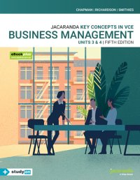 Key Concepts in VCE Business Management Units 3&4 5E eBookPLUS & Print + StudyOn VCE Business Management Units 3&4 3E (Book Code) Image