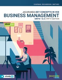 Key Concepts in VCE Business Management Units 1&2 5E eBookPLUS & Print + StudyOn VCE Business Management Units 1&2 (Book Code) Image
