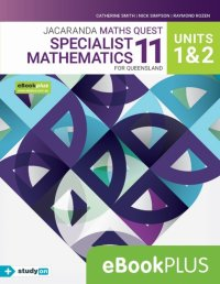 Jacaranda Maths Quest 11 Specialist Mathematics Units 1&2 for Qld eBookPLUS (Online Purchase) + StudyOn Specialist Maths U1&2 for Qld (Online Purch) Image