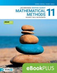 Jacaranda Maths Quest 11 Mathematical Methods VCE Units 1&2 2E eBookPLUS (Online Purchase) + StudyOn VCE Mathematical Methods U1&2 (Online Purchase) Image