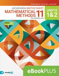 Jacaranda Maths Quest 11 Mathematical Methods Units 1&2 for Qld eBookPLUS (Online Purchase) + StudyOn Maths Methods U1&2 for Qld (Online Purchase) Image
