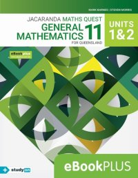 Jacaranda Maths Quest 11 General Mathematics Units 1&2 for Qld eBookPLUS (Online Purchase) + StudyOn General Mathematics U1&2 for Qld (Online Purch) Image