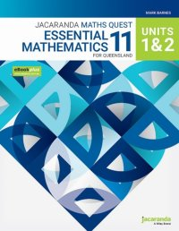 Jacaranda Maths Quest 11 Essential Mathematics Units 1&2 for Queensland eBookPLUS and Print Image