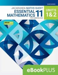 Jacaranda Maths Quest 11 Essential Mathematics Units 1&2 for Queensland eBookPLUS (Online Purchase) Image