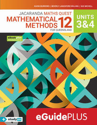 Jacaranda Maths Quest 12 Mathematical Methods Units 3&4 for Queensland eGuidePLUS (Online Purchase) Image