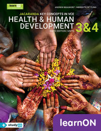 Jacaranda Key Concepts in VCE Health & Human Development Units 3 and 4 6E LearnON (Online Purchase) Image