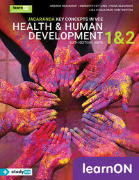 Jacaranda Key Concepts in VCE Health & Human Development Units 1 and 2 6E LearnON (Online Purchase) Image