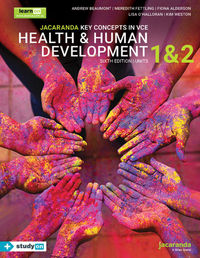 Jacaranda Key Concepts in VCE Health & Human Development Units 1 and 2 6E LearnON and Print with    StudyOn Image