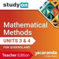 StudyOn Mathematical Methods Units 3 & 4 Queensland Teacher Edition (Online Purchase) Image