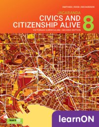 Jacaranda Civics & Citizenship Alive 8 Victorian Curriculum 2E LearnON (Online Purchase) Image