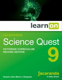 Jacaranda Science Quest 9 for the Victorian       Curriculum 2E LearnON (O) Image