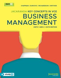 Jacaranda Key Concepts in VCE Business Management Units 1&2 6E LearnON & Print & StudyOn Image