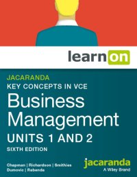Jacaranda Key Concepts in VCE Business Management Units 1&2 6E LearnON & StudyOn (O) Image