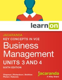 Jacaranda Key Concepts in VCE Business Management Units 3&4 6E LearnON & StudyOn (O) Image