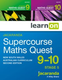 Jacaranda Supercourse: Maths Quest 9 - 10 Stage 5 NSW Australian Curriculum 2E LearnON (Online Purchase) Image