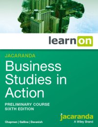 Jacaranda Business Studies in Action Preliminary Course 6E LearnON (Online Purchase) Image