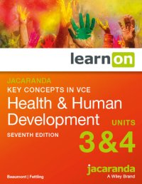 Jacaranda Key Concepts in VCE Health & Human Development VCE Units 3 and 4 7E LearnON (Online Purchase) Image