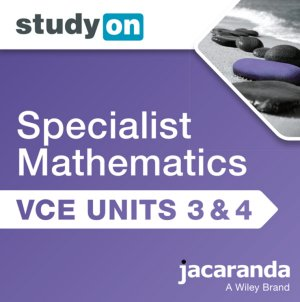 StudyOn VCE Specialist Mathematics Units 3 and 4  (Online Purchase)